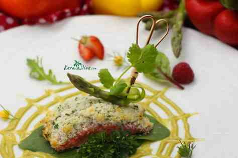 A tandoori Bread Crusted Salmon makes an easy and tasty meal for your family