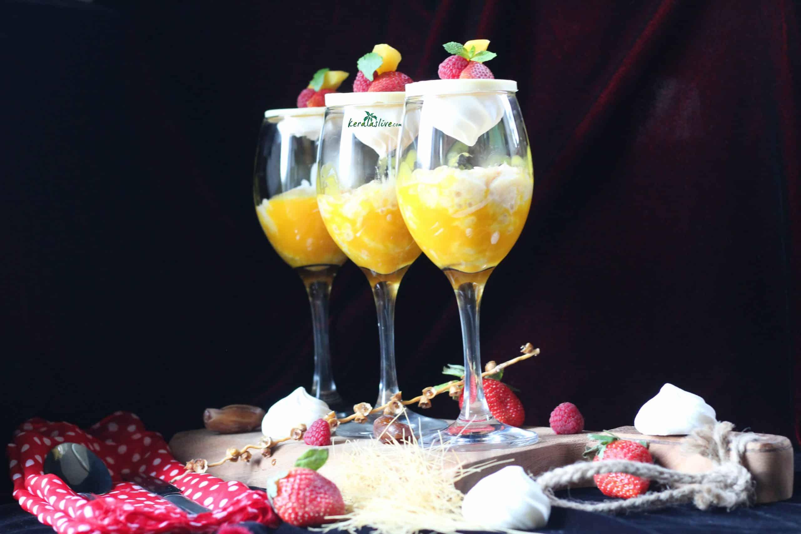 Mango, dates & vermicelli payasam / Kheer (pudding)
