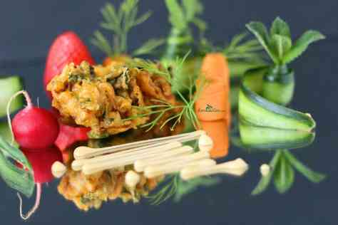 Leek and onion bhaji. This delicious onion and leek bhaji is a classic recipe that is full of flavour and so easy to make. With amazing combination of spices, they make a great starter.