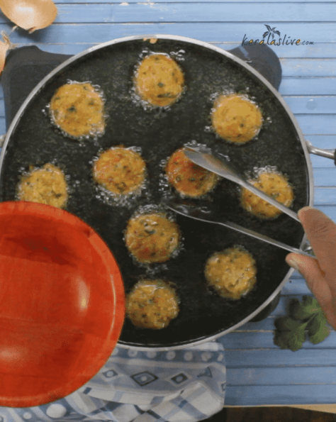when the fritters are golden brown take them out from oil