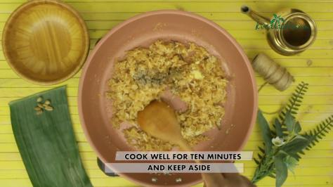 cook the filling in a slow fire for ten minutes and keep aside