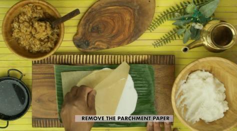 remove the parchment paper
