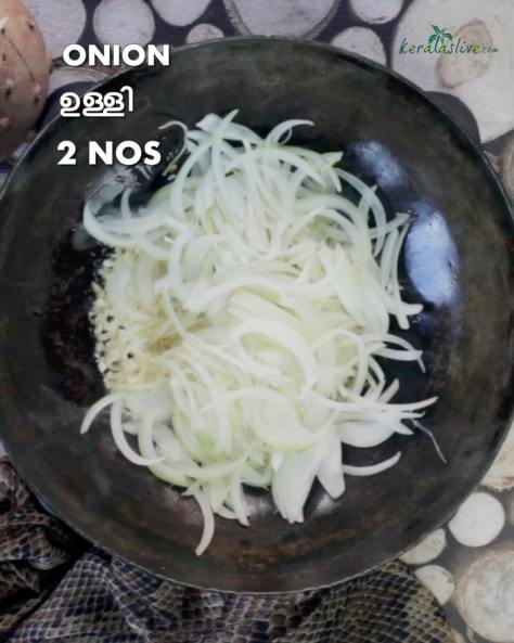 add 2 numbers of sliced onions