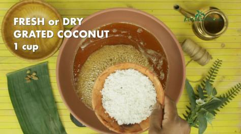 add one cup of grated coconut
