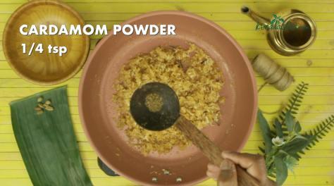 add quarter teaspoon of cardamom powder