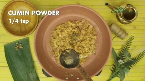 quarter teaspoon of cumin powder