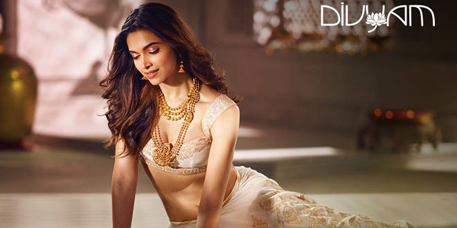 Deepika Padukone Photo Shoot For Tanishq Jewellery Divyam Collection