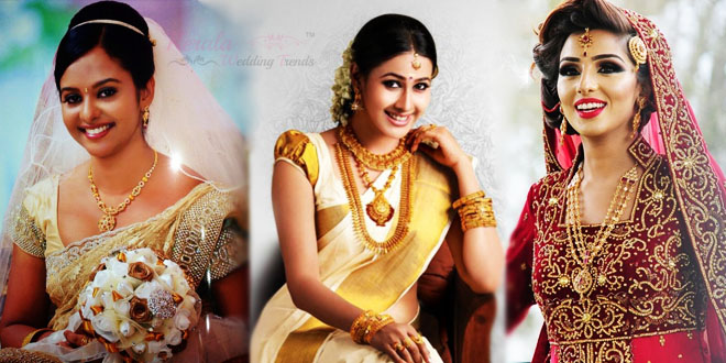Kerala Bridal Dress For Different Religions
