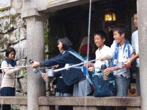 Brunnen am Kiyomizu Tempel Kyoto
