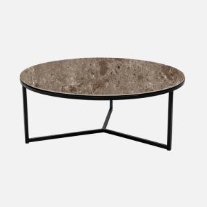 Keramische tafels Salontafel Rond Marrone Julia