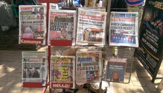 Zeitungsstand in Kampala