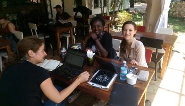 Auslandskorrespondentinnen bei der Arbeit