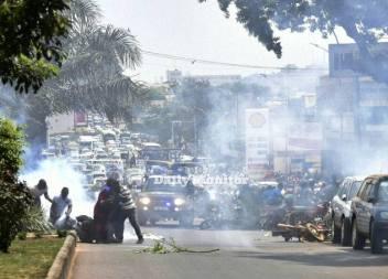 Tränengas made in Uganda