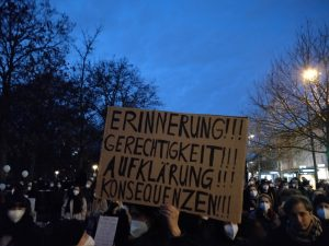 Rede zum Gedenken an Hanau