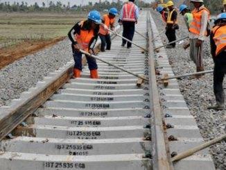 Proyek Kereta Api Makassar-Parepare - makassar.tribunnews.com