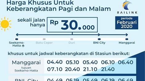 Promo Kereta Bandara Soekarno-Hatta - @PT Railink