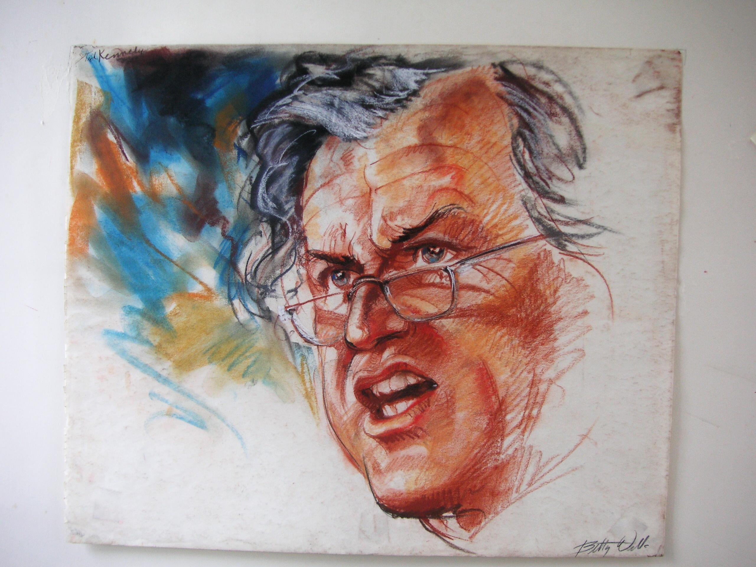 Senator Ted Kennedy by Betty Wells