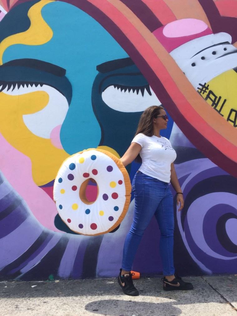 Nike Street Style on Keri Elaine, donut and colorful female graffiti