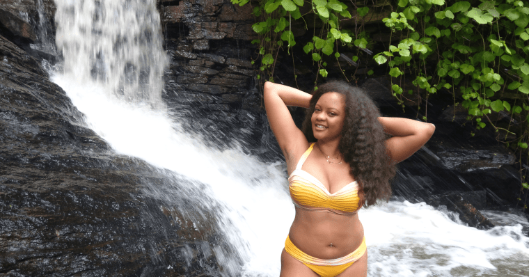 Yellow Everything But Water Bikini Waterfall