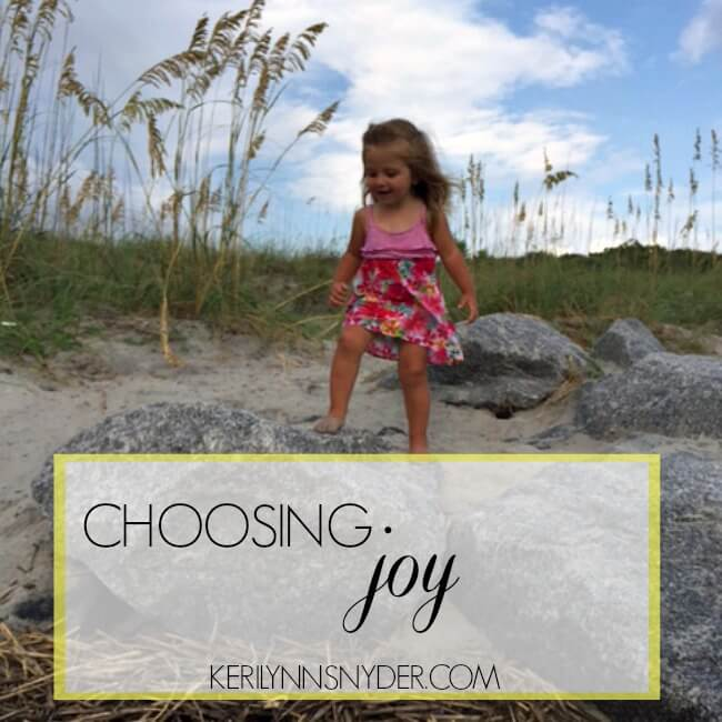 How can we start choosing joy- no matter what the circumstances are.