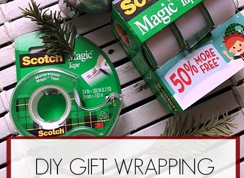 DIY Gift Wrapping Station- Staying Organized This Christmas