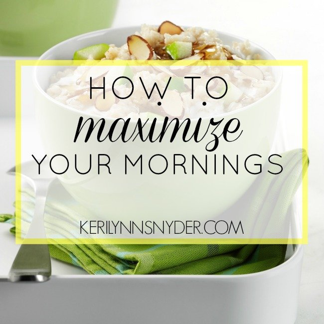 Learn how to make the most of your mornings as a busy mom