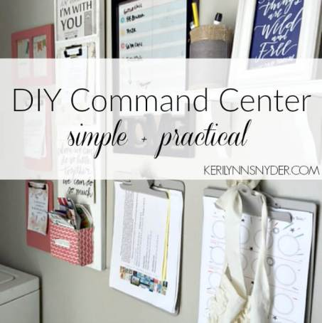 Learn how to make a command center for your home.