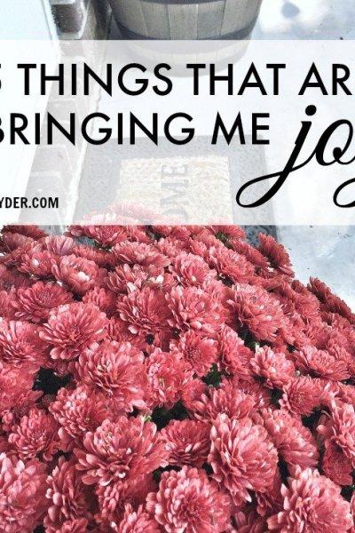 5 Things Bringing Me Joy