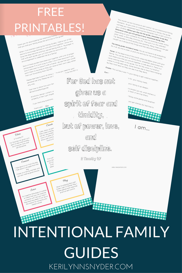 Connect as a family using this family guide. It is the perfect resource for families with free printables