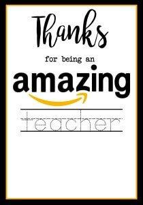 Teacher Appreciation Gifts, Printable