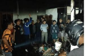 Rumah Safrina Warga Hamparan Rawang Habis Terbakar