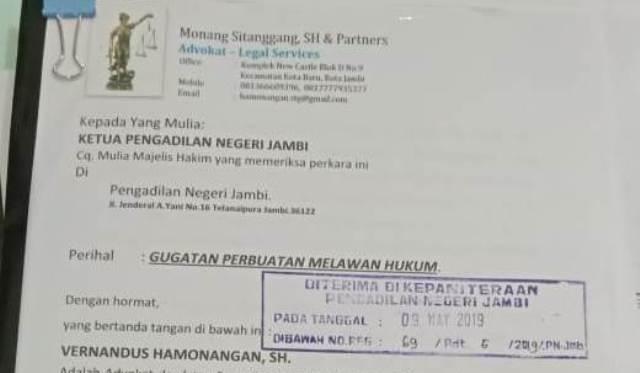 Photo of Andika Gugat PPK 10 Balai Wilayah 4 BM PUPR Jambi ke Pengadilan Negeri