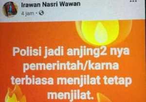 Hina Polisi di Facebook, Irawan Warga Lempur Kerinci Diciduk Polisi