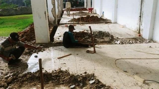 Rehab pembangunan kantor Bupati Muaro Jambi. Foto: Uda/Jambiseru.com