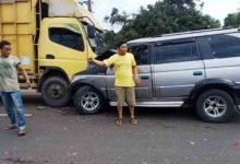 Photo of Laka Maut Bungo Truk Canter Vs Panther
