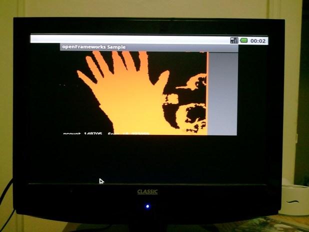 openFrameworks Sample running on Android running on Beagleboard-xM