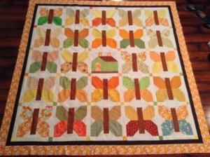 The quilt top before quilting.