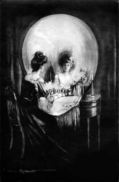 """All Is Vanity"" (1892) by C. Allan Gilbert. In the public domain, via Wikimedia Commons"