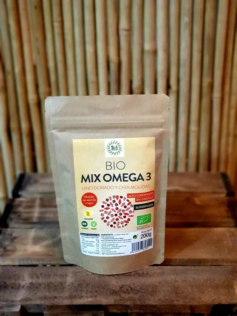 Mix Omega-3 Lino Dorado y Chía Molidas Bio Sol Natural