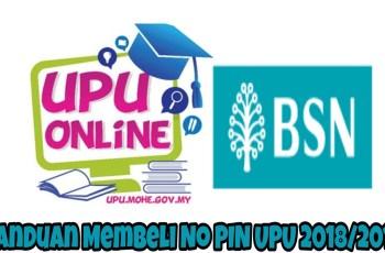 Panduan Membeli No PIN UPU 2018/2019