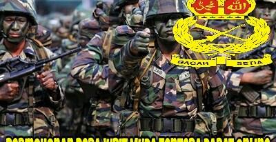 Permohonan Perajurit Muda Tentera Darat 2018 Online