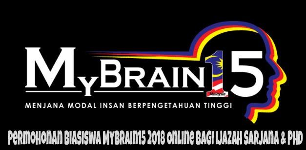 Permohonan Biasiswa MyBrain15 2018 Online Bagi Ijazah Sarjana & PHD