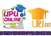 Tarikh Penting Permohonan UPU Sesi Akademik 2018/2019