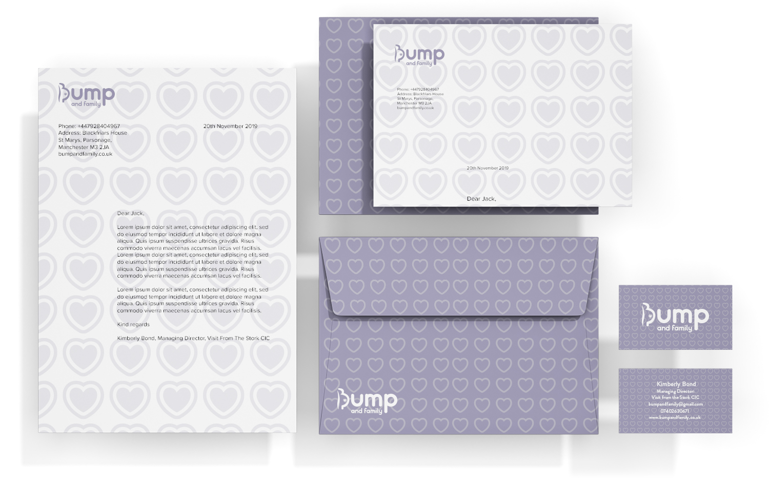 Bump and family stationery