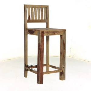 BCHM85385 Indian Rosewood High Bar Chair