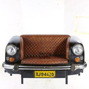 SOFA41894 Indian Ambassador Car Repurposed as Sofa Seating