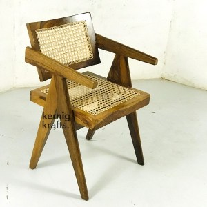 CHAM54991 Canning Seat Comfy Wooden Chandigarh Chair