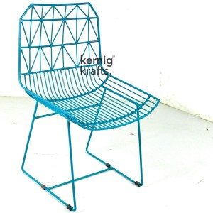 CHAM70387 Aztec Wireframe Metal Chair