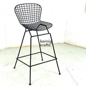 BCHM74341 Wireframe Metal Bar Chair