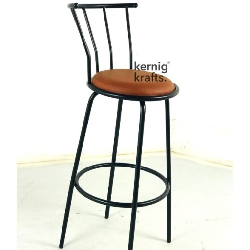 BCHM82028 Compact Bar Chair Metal and Upholstered Seat